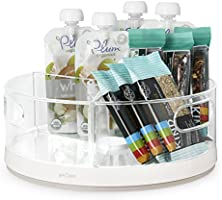 Save on YouCopia Crazy Susan Kitchen Cabinet Turntable and Snack Organizer with Bins and more