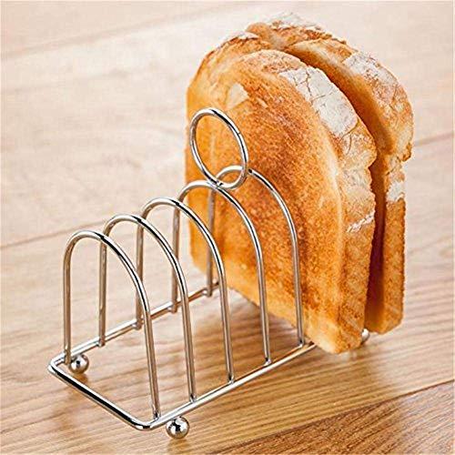 Irinay 6 Slot Toaststander Edelstahl Toast Und Brot Chic Rack Hufeisen Toastbrot Halter Backblech Fur Familie Fruhstuck Esstisch (Color : Colour, Einheitsgröße : Einheitsgröße)