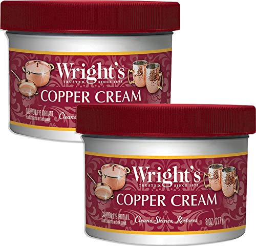 Wright's Copper and Brass Polish and Cleaner Cream- 8 Ounce