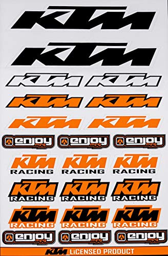 Enjoy Mfg Motorcycle Sticker Sheet Decal Graphics for KTM (White)