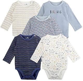 Baby Boy Bodysuit Set, 5-Pack Bear Print, 12 Month