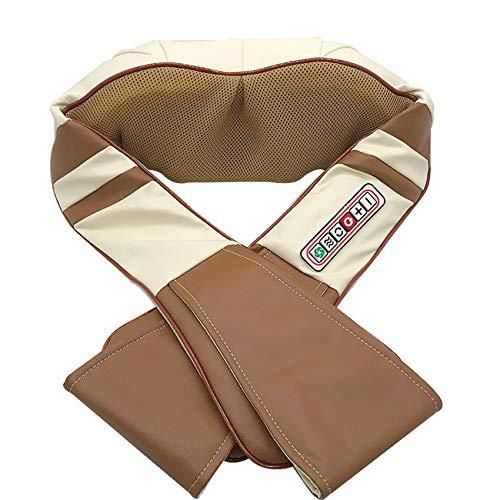 Shiatsu Massagekissen Wärmefunktion Massager|Elektrische Massagegerät mit Wärmefunktion für Schulter Nacken Rücken 3D Rotation Masseur Massage für Haus Büro AutoBattery model)