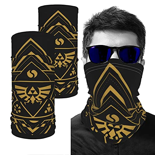 Geometric Zelda Printed Printing Summer Uv Protection Face Cover Neck Gaiter Scarf And Ice Silk Cooling Arm Sleves