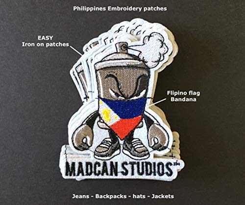 Philippines Patch Flags Pinoy Filipino Pride Quality Iron on Clothing accessorys Fashion Backpack Jean hat Tshirt Jackets Accessories for Men Women Unisex Small Filipina Patches (1)