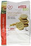 Mini crackers con cúrcuma sin gluten BIO - Germinal - 100g (caja 12 uds - Total: 1200g)