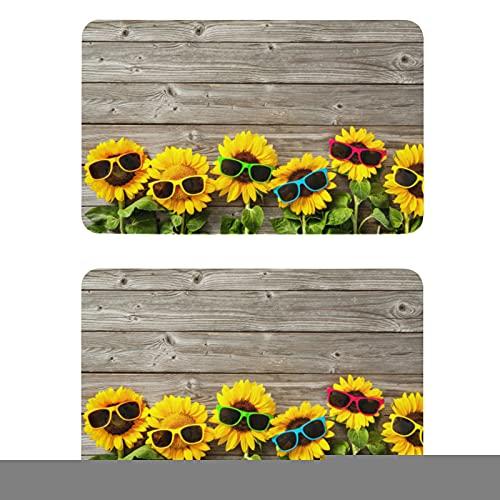 Naanle Funny Wooden Sunflower Refrigerator Magnets Fridge Magnets Set of 2 Locker Magnets Dishwasher Magnet Sign Magnetic Plate for Home Kitchen Office Cabinets Washing Machine Decorative