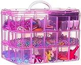 Prakal 3-Tier 30 Sections Transparent Stackable Adjustable Compartment Slot Plastic Craft Storage Box