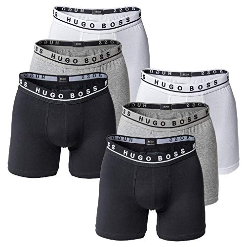 Hugo Boss Herren Boxer Long 6er Pack - Cyclist Shorts, Stretch (2X 3-Pack) (Mehrfarbig (999), S (Small) - 6-Pack)