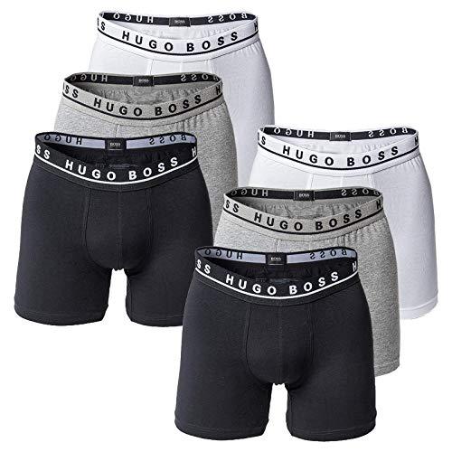 Hugo Boss Herren Boxer Long 6er Pack - Cyclist Shorts, Stretch (2X 3-Pack) (Mehrfarbig (999), M (Medium) - 6-Pack)