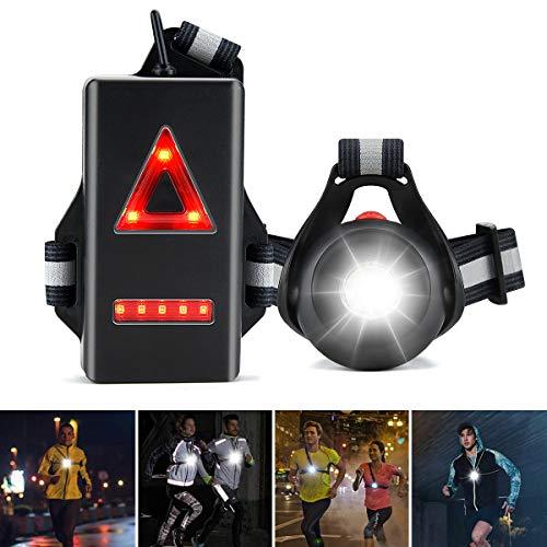 ZOOI Lauflicht - Lauflampe Ersatz Stirnlampe Joggen LED Wiederaufladbar USB Brustlampe mit 120 ° Verstellbarer Strahl, Running Light Jogging Licht für Laufen Joggen, Angeln, Campen, Radfahren