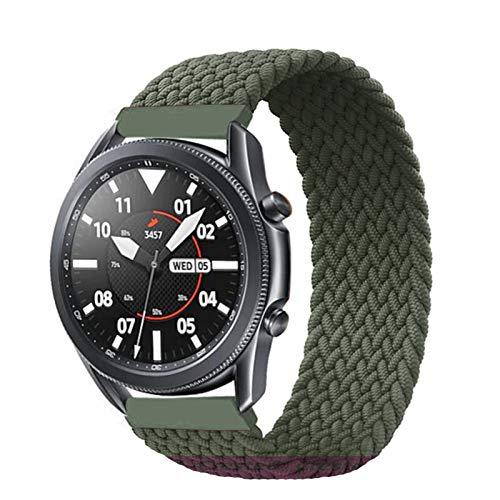 LAAGFC Correa trenzada de 20 mm y 22 mm para Samsung Galaxy Watch 3/45/41/46/42 mm/active 2 Gear S3, para Huawei Watch GT/2/2e correa (color de la correa: verde, tamaño: S-20 mm)
