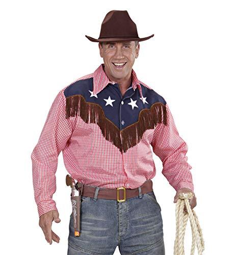 Widmann wdm1573r ? Déguisement Adultes Chemise Rodeo Cowboy, Rouge, M