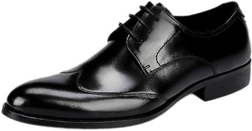 Nihiug Chaussures Habillées pour Hommes Chaussures De Bureau Classiques à à Lacets en Cuir Chaussures De Grande Taille Chaussures De Travail  première réponse