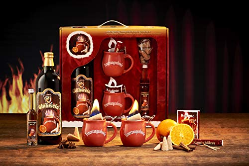 Feuerzangentasse Geschenkset, Klassisch, Terracotta - für Feuerzangenbowle