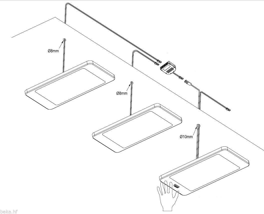 LED Unterbauleuchte 6Watt SET Sensor Küchenleuchte Einbauspot Einbaustrahler, Lichtfarbe:warmweiß, Setgröße:2er SET, Auswahl:mit Sensor 1er Set Sensor Neutralweiß