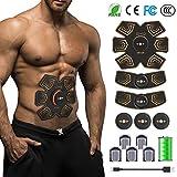 FISHOAKY Electrostimulateur Musculaire, Ceinture Abdominale Electrostimulation Femme Homme, ABS Stimulateur Musculaire,...