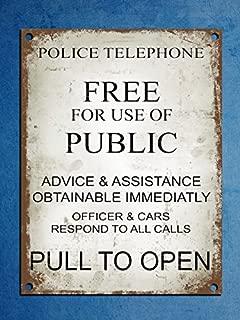 Metal Plaque Retro Vintage Style Police Phone Box Tardis Dr Who Wall Door Sign 8