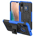 Galaxy A20 Case,Samsung A20 Case,Galaxy A50 Case,PUSHIMEI with Kickstand Hard PC Back Cover Soft TPU Dual Layer Protection Phone Case Cover for Samsung Galaxy A20/A30/A50 (Blue Kickstand case)