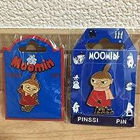 ムーミン リトルミイ フィンランド製 ピンバッジ 2個セット ピンバッチ ピンズ