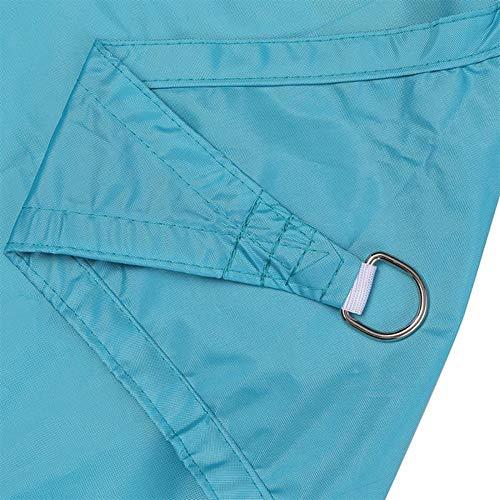 Gycdwjh Vela de Sombra Triángulo, Protección Rayos UV Toldos Material de Poliéster Resistente y Transpirable Toldo Vela con Cuerda Fija para Patio Exteriores Jardín 10 * 10 * 10FT,Lake Blue