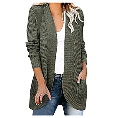 Amazon - Save 80%: Womens Long Sleeve Open Front Cardigans Chunky Knit Draped Sweaters Ou…