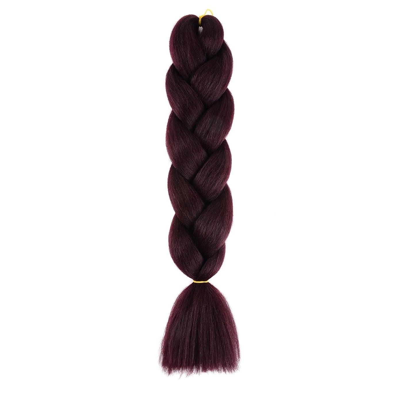 擬人オーガニック逆説Koloeplf 女性 高温 ワイヤ 編組髪 編み上げ ツイスト 髪飾り モノクロカラー アフリカの エキゾチックな髪 (Color : Wine red)