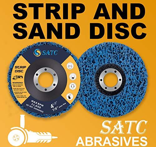 S SATC Strip Discs 5PCS Bule Stripping Wheel 4-1/2
