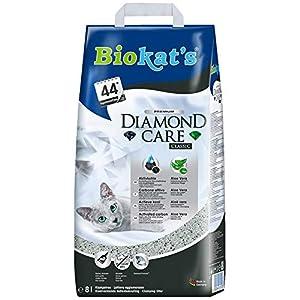Biokat's Diamond Care Classic ohne Duft - Feine Katzenstreu mit Aktivkohle und Aloe Vera - 1 Sack (1 x 8 L) 2