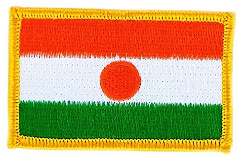 Aufnäher Patch bestickt, Flagge niger nigerien BW backpack zum Aufbügeln
