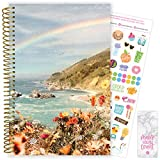 """bloom daily planners 2020-2021 Academic Year Day Planner & Calendar (July 2020 - July 2021) - 6"""" x 8.25"""" - Weekly/Monthly Agenda Organizer with Stickers and Bookmark - Rainbow Coast"""