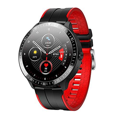 LZXMXR Smart Watch, Bluetooth Call Sleep Monitoring, synchronisiertes Adressbuch, benutzerdefinierte Zifferblatt mehrsprachig (Color : Red)