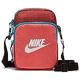 Nike Heritage - Bolso de mano, diseo de cuadros, color rojo