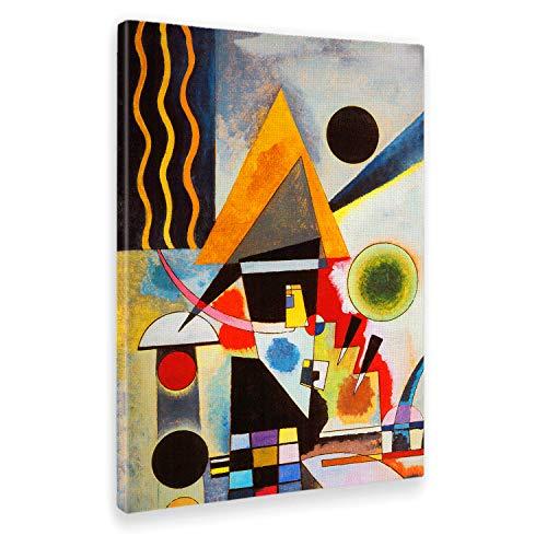 Giallobus - Cuadro - Impresion en Lienzo Kandinsky - Cuadro Abstracto OSCILACIÓN - Pinturas Modernas de lienzos - Varios formatos - 50 x 70 CM