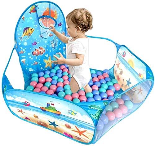 Piscinas de bolas for niños pequeños con aro de baloncesto la tienda del juego, la bola del niño niños océano piscina del bebé del arrastre del aro parque infantil y la cremallera de almacenamiento de