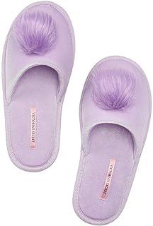 Victoria Secret. Sleep Pom-Pom Slippers Slides Dreamy Lavender Large (9/10)