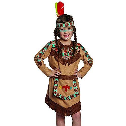 Stirnband Indianer für Kinder türkis-braun Indianerkostüm Kinderfasching