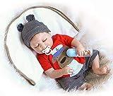 ZIYIUI 18pulgadas 45cm Cuerpo Completo de Silicona Impermeable Reborn Baby Doll Recién Nacido Realistic Baby Doll Anatómicamente Correcto Chico muñeca