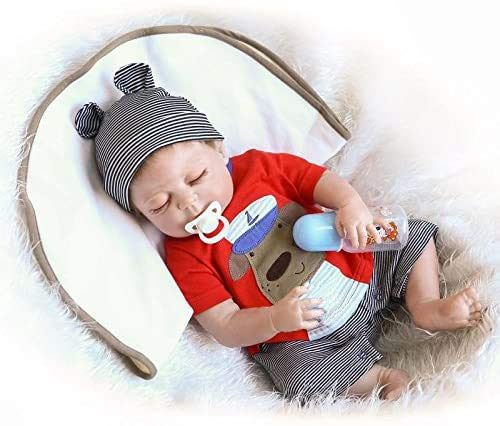 ZIYIUI 20inch 50cm Reborn Baby Dolls Boy Silicone Full Body Realistic Handmade Newborn Reborn Babies Boy and Girl Toddler Sleeping Doll Gifts Toys