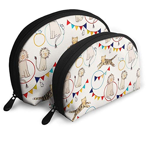 JUKIL Bunte Zoo tragbare Taschen Clutch Pouch Coin Purse Cosmetic Travel Storage