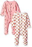 Rosie Pope Baby Girls' 2 Pack Coveralls, Swimmers/Seashells, 6-9 Months