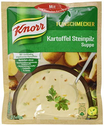 Knorr Feinschmecker Kartoffel Steinpilz Suppe, 2 Teller, 15er Pack