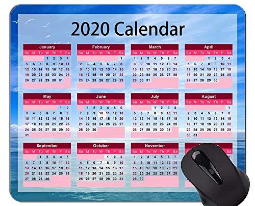 2020 Calendar Golden Premium Custom Original Mouse Pad,Seagull Beach Themed Mouse Pads
