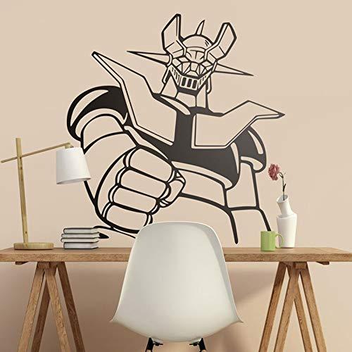 yiyitop Fotomural Mazinger Z. Dibujos Animados clásicos para entusiastas de la Serie Los años 80. Cool Giant Robot Wall Decal Vinilo Adhesivo 57 * 60cm