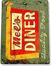 Froy B935 Mels Diner Restaurant Retro Roestige Rustieke Muur Tin Teken Retro IJzeren Poster Schilderen Plaque Metalen Vintage Gepersonaliseerde Kunst Creativiteit Decoratie Ambachten Voor Cafe Bar Garage Home