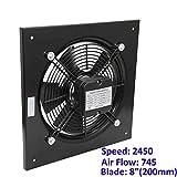 Ventilador industrial axial para edificio comercial. Extractor de ventilación