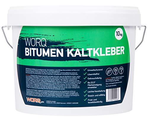 10 KG WORQ Qualität Kaltkleber Bitumen Kaltkleber, Dachbahnen und Bitumenschindeln Kleber.