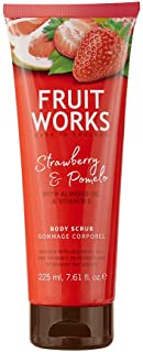 Fruit Works Strawberry & Pomelo Cruelty Free & Vegan Body Scrub With Natural Extracts 1x 225ml