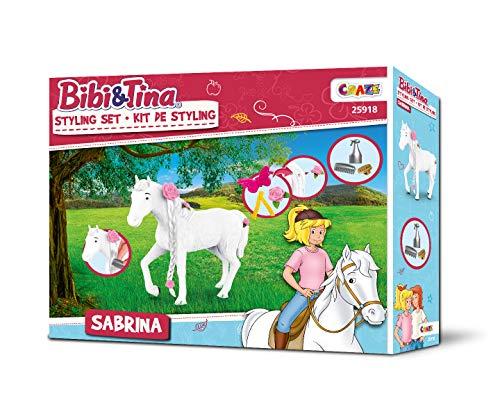 CRAZE BIBI & Tina Styling Sabrina Spielset Spielfiguren stylen 25918, Pferde Spielwelt
