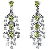 Peora Peridot Chandelier Dangle Earrings in...