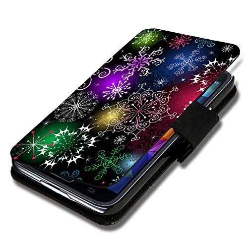 wicostar Book Style Flip Handy Tasche Case Schutz Hülle Schale Motiv Foto Etui für Sony Xperia E3 - X18 Design1